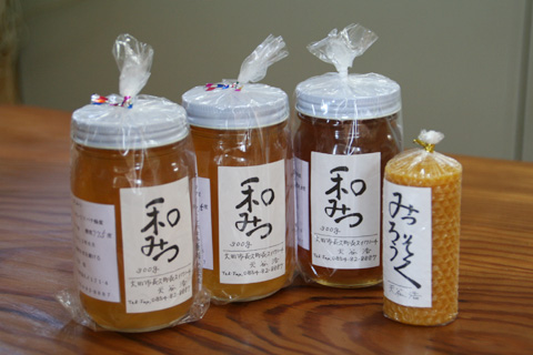 日本ミツバチのはちみつ&みつろう